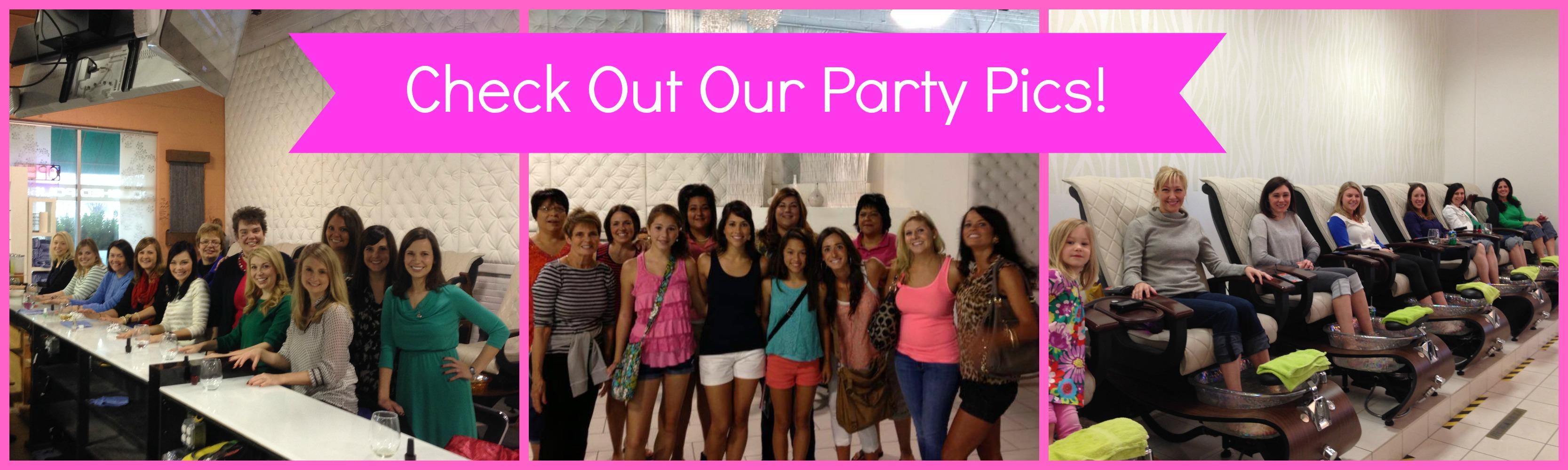 party photos at Polished Nail Bar in Charlotte