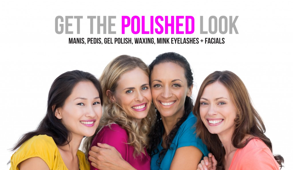 polished nail bar manicure pedicure mink eyelashes facials