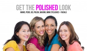 polished nail bar manicure pedicure mink eyelashes facials