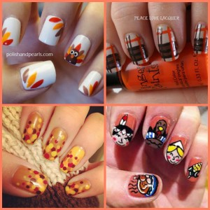 tgiving nails Collage