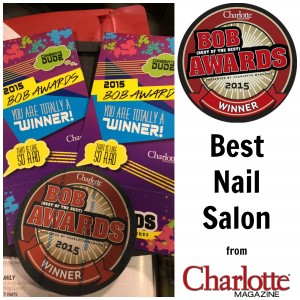 2015 BOB Award Best of the Best Best Nail Salon Charlotte Magazine