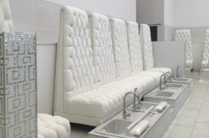pedi chairs at Waverly Polished Nail Bar